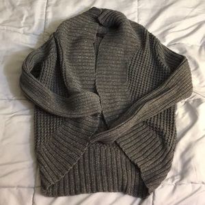 Grey/gold cardigan by the limited - size small